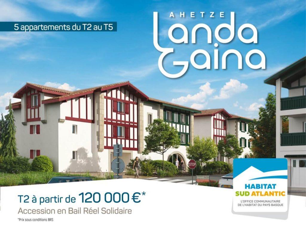 Landa Gaina : devenez propriétaire à Ahetze